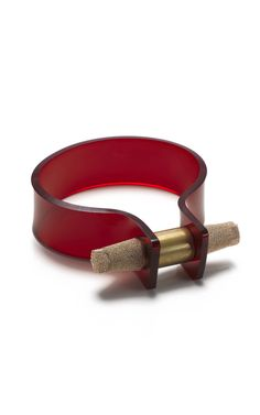 Cooee Large Nut Cuff in Red