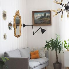We wish you relaxing evening. This lovely timeless and elegant interior belongs to . Bazar wall lamp Hero hanging lamp by Rydens . Scandinavian Table Lamps, Scandinavian Lighting, Scandinavian Home, Scandi Home, Nordic Home, Traditional Lamps, Wall Lights, Ceiling Lights, Floor Lamp