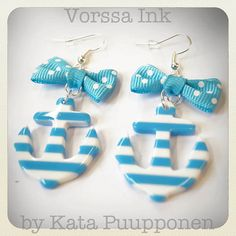 Old School plastic Pin Up style striped Anchor by VorssaInk, €18.50