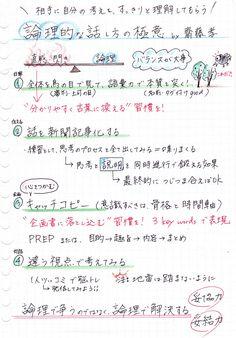 論理的な話し方の極意:齋藤孝著[内容の感想とまとめ] – conote Japanese Handwriting, Business Notes, Study Notes, Learn English, Textbook, Cool Words, Quotations, Knowledge, Bullet Journal