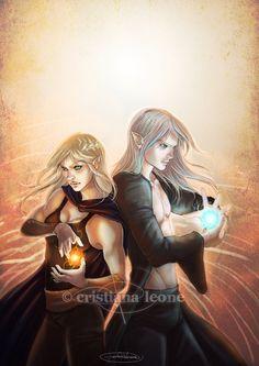 Aelin and Rowan--I really love their dynamic! they make a good pair! #HeirOfFire