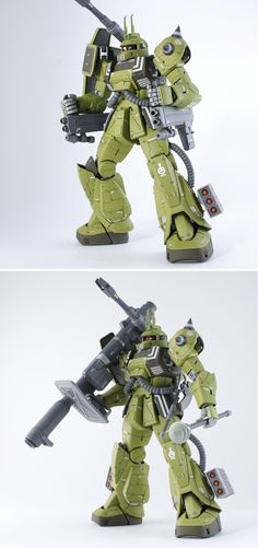 MG 1/100 MS-06K Zaku Cannon Ian Greydon Custom: Modeled by takechako. Full Photoreview many Wallpaper Size Images   GUNJAP