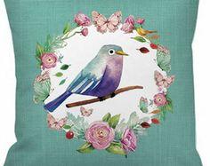 Capa de Almofada Vintage pássaro 063