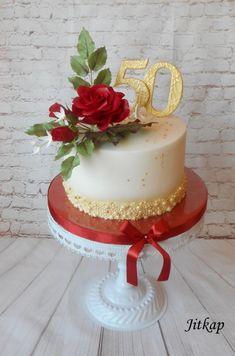 Golden wedding cake by Jitkap - http://cakesdecor.com/cakes/308093-golden-wedding-cake