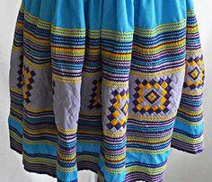 Vintage-Seminole-Skirt-Patchwork-Full-Flared-Circle-Indian-Native-American-Folk