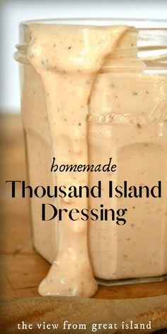 Chutney, Ketchup, Homemade Thousand Island Dressing, Thousand Island Dressing Recipe Healthy, 1000 Island Dressing Recipe, Sauce Recipes, Cooking Recipes, Beef Recipes, Vegans