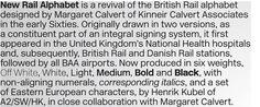 New Rail Alphabet - Decent Helvetica alternative