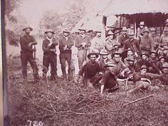 ORIGINAL-Spanish-American-War-1899-Photo-Infantry-in-the-Field-Philippines