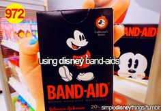I use Disney Princess band-aids, I need different kinds <3 :D :D