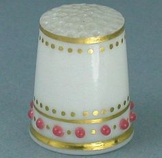 Antique English Royal Worcester 'Jeweled' Thimble; Circa 1900's