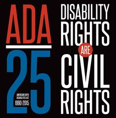 "On the Americans with Disabilities Act at 25: Betsy Beaumon's Op-Ed on the Bookshare blog. Image: ADA 25th anniversary logo. ""Disability Rights are Civil Rights"""