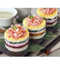 Des sushi cakes en format individuel...