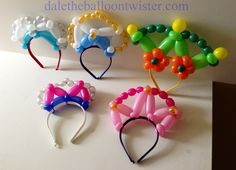 Balloon Tiara Headbands inspired by Alberto Nava.