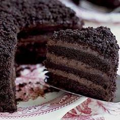 I was thinking about McKenzies Bakery that had the BEST chocolate cake that I have ever eaten in my life. A 4/5 layer chocolate cake with pudding between each layer covered in chocolate crumbs. McKenzie's closed down quite a few years ago, but every now and then, I think about this cake. I found this recipe and it sounds awfully similar. Enjoy.