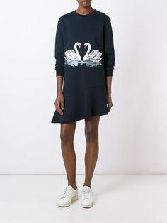 Stella McCartney embroidered swan sweater dress