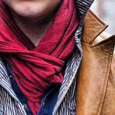 Layers, layers, layers…Scarves are not only for women!