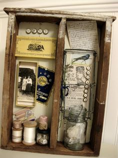 Great re-purpose of an old drawer.