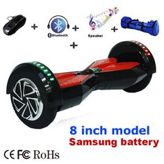 "UL2272 DE stock 8' & 6.5"" self balancing scooter LED Light 2 wheel electric hover board samsung battery hoverboard skateboard //Price: $230.68//     #gadgets"