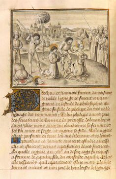 Jacobus de Voragine | Golden Legend, in French | Illuminated by the Master of the Jardin de vertueuse consolation | ca. 1460 | The Morgan Library & Museum