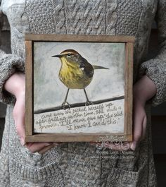 A personal favorite from my Etsy shop https://www.etsy.com/listing/279246114/yellow-bird-print-confidence-quote-wall