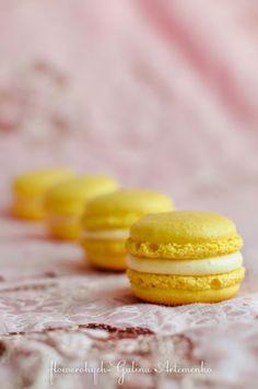Рецепт макаронс по Пьеру Эрме, лимонные макаронс рецепт, Lemon macarons recipe