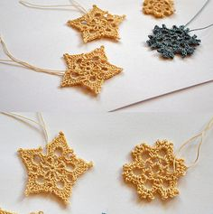 let it snow, there are plenty of crochet snowflakes out there, I'm just adding two ^__^