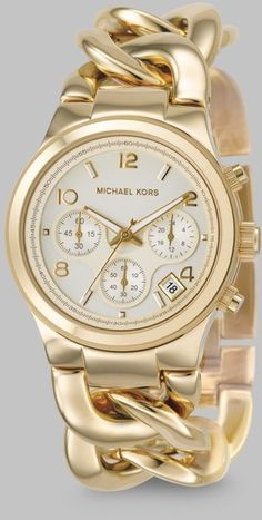 Oh love love love this watch! Gold Ip Stainless Steel Twist Chain Watch