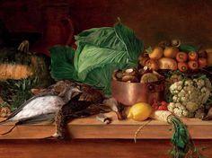 Dead Game, Vegetables and Mushrooms, 1854. In bezit van het National Art Museum of the Republic of Belarus.