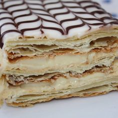 Classic French Napoleons Recipe on Yummly. British Desserts, French Desserts, Köstliche Desserts, Delicious Desserts, Yummy Food, French Food, Plated Desserts, Napoleon Pastry, Napoleon Dessert
