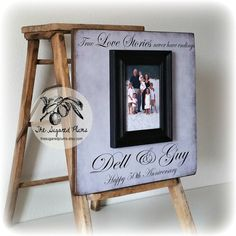 50th Anniversary Gifts, Parents Anniversary Gift, True Love Stories Never Have Endings, Anniversary Frame, 16x16 THE SUGARED PLUMS Frames