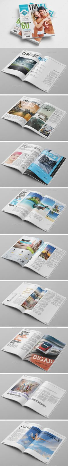 20 Pages Magazine Template — Photoshop PSD #travel #creative • Available here → https://graphicriver.net/item/20-pages-magazine-template/10617457?ref=pxcr
