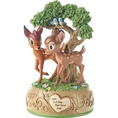 Precious Moments Disney Showcase Bambi & Faline Love is A Song that Never Ends Resin Music Box Figurine