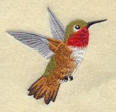 Allen's Hummingbird Embroidered Flour Sack by CreatureCreations4u