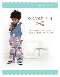 Oliver + S - Art Museum Vest and Trousers in Big