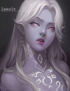 Iseult by on DeviantArt Dark Fantasy Art, Fantasy Women, Fantasy Girl, Fantasy Character Design, Character Design Inspiration, Character Art, Half Elf, Elfen Fantasy, Elf Art