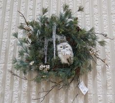 Mid Island Floral Art Club in Qualicum Beach B.C. Canada, hosted a Christmas Gala, this is one of the wreaths that the members made that were sold at the Christmas Gala 2015