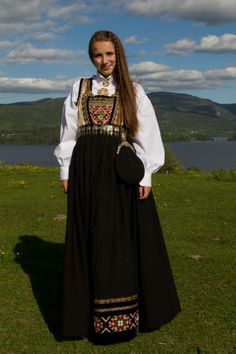 Folk Costume, Costumes, Traditional Dresses, Norway, Bohemian, Textiles, Image, Clothes, Beauty