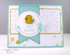 Happily Ever Crafter: New Baby Card; FREE SHIPPING + BONUS From Me