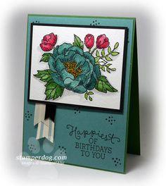 A Special Birthday Card for a Special Lady (Stamper Dog Card Ideas) Special Birthday Cards, Birthday Bouquet, Dog Cards, Stampin Up, Birthdays, Bloom, Paper Crafts, Card Ideas, Elegant Lady