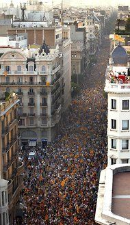 """The New York Times: Spain's Leader Fails to Reach Deal With Catalonia. """"The people and society of Catalonia are on the move, as we have seen on Sept. 11, and not willing to accept that our future will be gray when it could be more brilliant,"""" Mr. Mas said at a news conference here.    Just as Mr. Rajoy's government finds itself on the front lines of the euro crisis, Catalonia, which accounts for almost a fifth of Spain's economic output, has moved to the fore of Mr. Rajoy's domestic…"""
