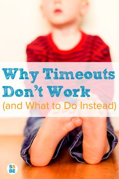 Most parents use time outs to discipline, but they don't work all the time. Here's why time outs don't work (and what to do instead of timeout). #parenthood