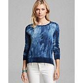 $195 PAM & GELA Sweatshirt - French Terry Twist Neck High/Low