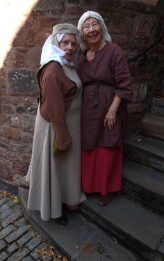 Elderly women in medieval costume