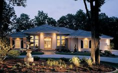 Luxury Ranch Homes from houseplansandmore.com