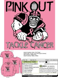 Mount Vernon Township HS - Pink Out Football Game