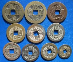 Tomcoins-China Qing Dynasty Ten emperors cash coins set
