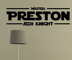 """I like this for my """"Master LUKE Jedi Knight"""" vinyl wall decal art vinyl by raaa100, $10.99"""