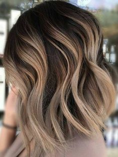 50 Blonde Hair Color Ideas For Short Hair Blonde Inspirations for 2019 With Hairstyle Brown Ombre Hair, Ombre Hair Color, Light Brown Hair, Hair Color Balayage, Dark Brown, Hair Colors, Blonde Balayage, Ombre Style, Brown Balayage