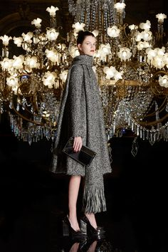 Paule Ka Fall 2017 Ready-to-Wear Collection Photos - Vogue (Tweed Swing Coat With Fringe Scarf)