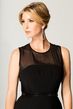 Ivanka Trump Dress and Ivanka Trump Pear Shape Mixed Cut Diamond Earrings